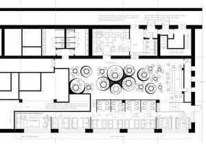 Дизайн интерьера ресторана - предложенная планировка